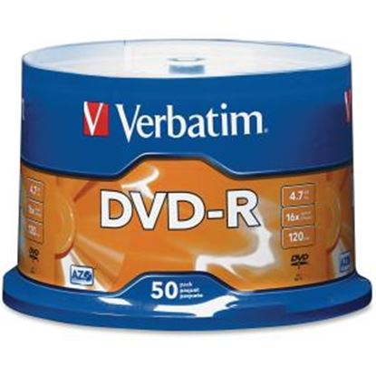 Picture of Verbatim AZO DVD-R 4.7GB 16X with Branded Surface - 50pk Spindle