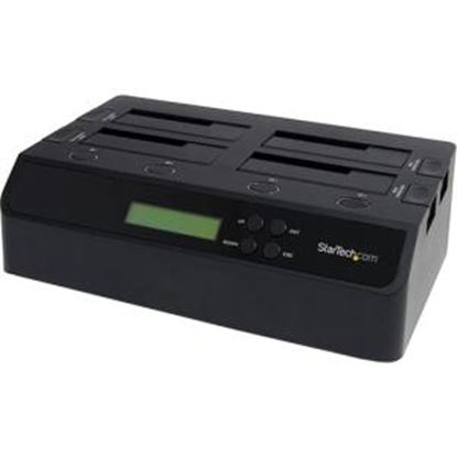 Picture of StarTech.com 4 Bay USB 3.0 eSATA to SATA Standalone 1:3 HDD Hard Drive Duplicator Dock