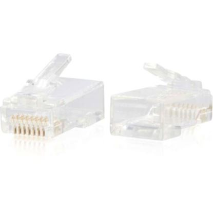 Picture of C2G RJ45 Cat6 Modular Plug for Round Solid/Stranded Cable - 100pk