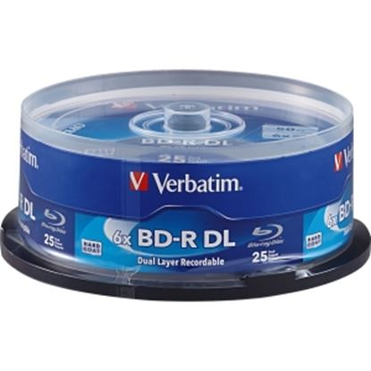 Picture of Verbatim BD-R DL 50GB 6X with Branded Surface - 25pk Spindle