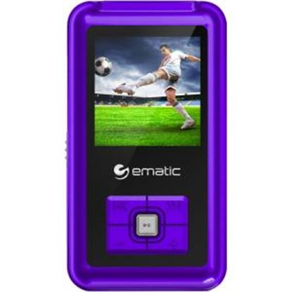 Picture of Ematic EM208VID 8 GB Purple Flash Portable Media Player