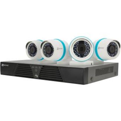 Picture of EZVIZ Smart Home 1080p Security Camera System, 4 Weatherproof 1080p IP PoE Cameras, 4 Channel NVR 1TB HDD, 100ft Night Vision, Smart Home Enabled using IFTTT