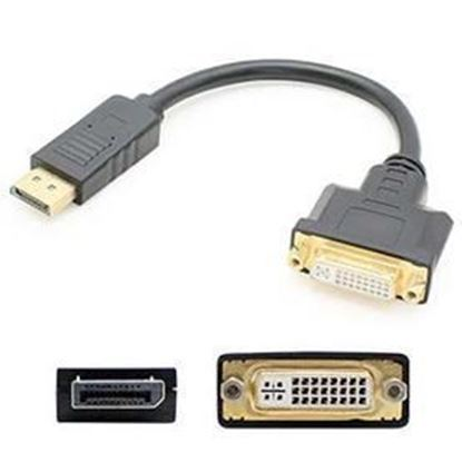 Picture of INFRA Brand - -	8in DisplayPort 1.2 to DVI-I (29 pin) Male to Female Black Adapter Cable