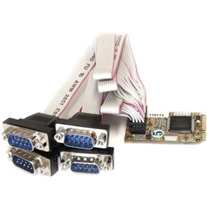 Picture of StarTech.com 4 Port RS232 Mini PCI Express Serial Card w/ 16650