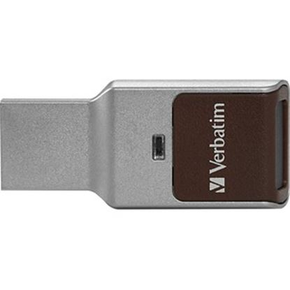 Picture of 32GB Fingerprint Secure USB 3.0 Flash Drive with AES 256 Hardware Encryption - Silver