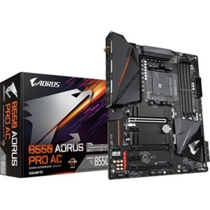 Picture of Aorus Ultra Durable B550 AORUS PRO AC Desktop Motherboard - AMD Chipset - Socket AM4