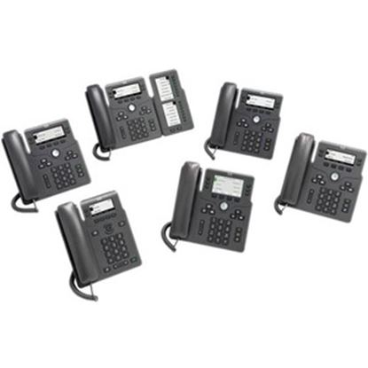 Picture of Cisco 6861 IP Phone - Corded - Corded/Cordless - Wi-Fi - Wall Mountable - Charcoal