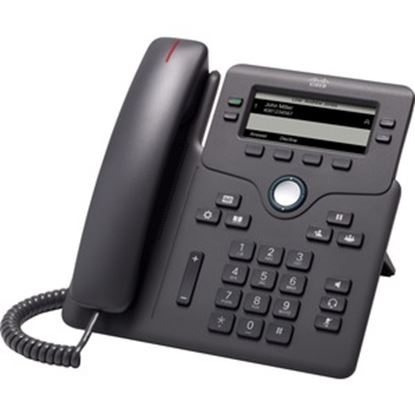 Picture of Cisco 6851 IP Phone - Corded - Corded - Wall Mountable, Desktop - Charcoal