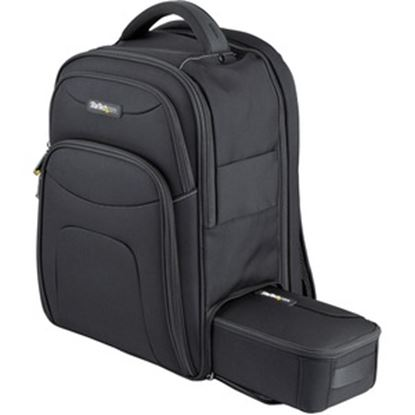 """Picture of 15.6"""" Laptop Backpack w/ Removable Accessory Case, Professional IT Tech Backpack for Work/Travel/Commute, Nylon Computer Bag"""
