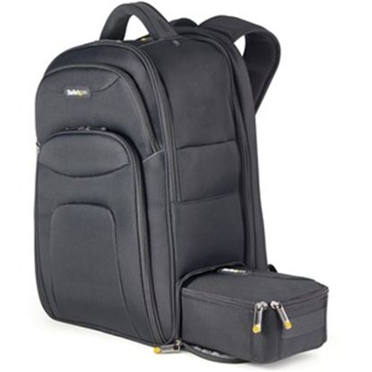 """Picture of 17.3"""" Laptop Backpack w/ Removable Accessory Case, Professional IT Tech Backpack for Work/Travel/Commute, Nylon Computer Bag"""