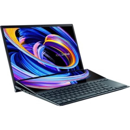 """Picture of Asus ZenBook Duo 14 UX482 UX482EG-XS77T 14"""" Touchscreen Notebook - Full HD - 1920 x 1080 - Intel Core i7 11th Gen i7-1165G7 Quad-core (4 Core) 2.80 GHz - 32 GB RAM - 1 TB SSD - Celestial Blue"""